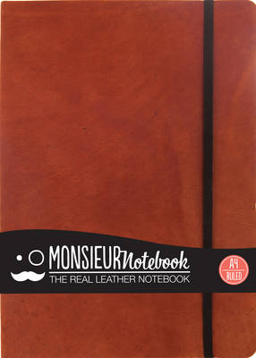 Monsieur Notebook - Real Leather A4 Tan Ruled (Leather / fine binding)