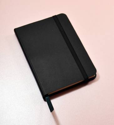 Monsieur Notebook Leather Journal - Black Ruled Small A6 (Leather / fine binding)