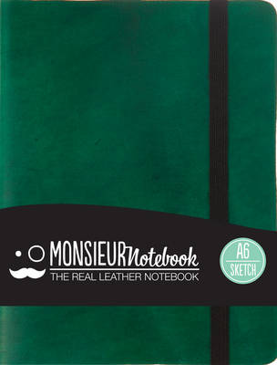 Monsieur Notebook - Real Leather A6 Green Sketch (Notebook / blank book)