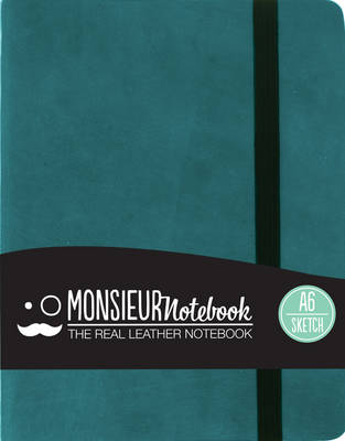 Monsieur Notebook Real Leather A6 Turquoise Sketch (Leather / fine binding)