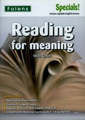 Secondary Specials!: English - Reading for Meaning (11-14) (Paperback)