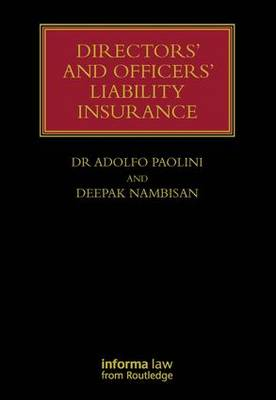 Directors' and Officers' Liability Insurance - Lloyd's Insurance Law Library (Hardback)