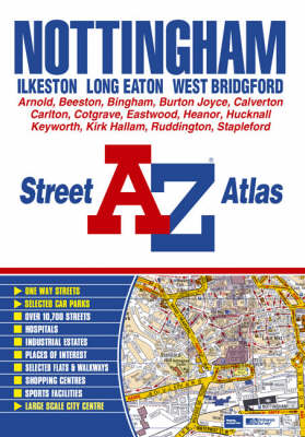 Nottingham, Ilkeston, Long Eaton, West Bridgford, Street Atlas (Paperback)