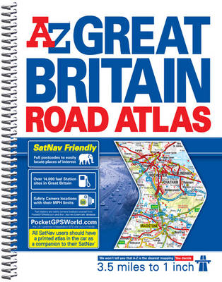 Great Britain 3.5m Road Atlas 2014 - A-Z Road Atlas S. (Spiral bound)