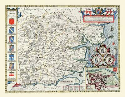 John Speeds Map of Essex: Photographic Print of County Map of Essex 1611 by John Speed (Sheet map, flat)
