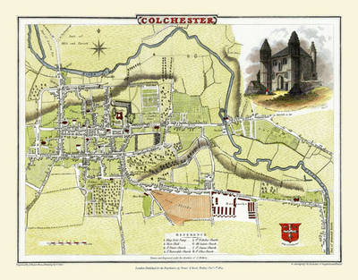 "Cole and Roper Old Map of Colchester 1805: 20"" x 16"" Photographic Print of Colchester (Sheet map, flat)"