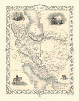 John Tallis Map of Persia 1851: Photographic Print of Map of Persia 1851 by John Tallis (Sheet map, flat)