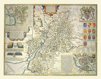 John Speeds Map of Gloucestershire 1611: Colour Print of County Map of Gloucestershire 1611 by John Speed (Sheet map, flat)