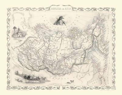 John Tallis Map of Russia in Asia 1851 by John Tallis (Sheet map, flat)