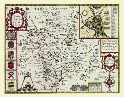 John Speeds Map of Worcestershire 1611: Large Poster Sized Print of Map of the County of Worcestershire 1611 by John Speed (Sheet map, rolled)