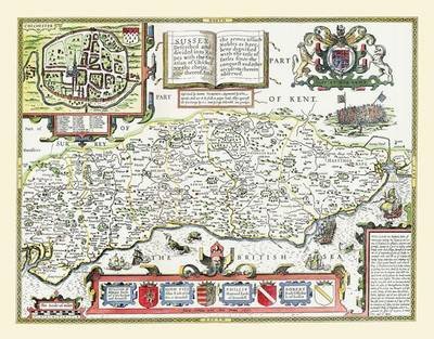 John Speeds Map of Sussex 1611: Large Poster Sized Photographic Quality Print of Map of the West Riding of Yorkshire 1611 (Sheet map, rolled)