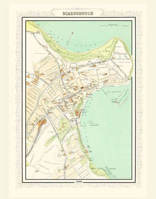 Map of Scarborough 1898: Photographic Print of Map of Scarborough 1898 (Sheet map, flat)