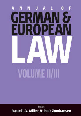 Annual of German and European Law: Pt. 2 (Paperback)