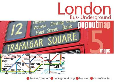 London Bus/underground PopOut Map - Popout Maps (Sheet map, folded)