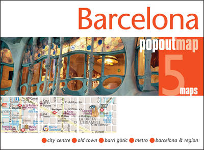Barcelona Popout Map - Popout Maps (Sheet map, folded)