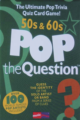 Pop the Question: 50s and 60s (Hardback)