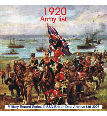 Army List 1920 (CD-ROM)