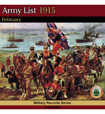 Army List 1915 - February (CD-ROM)