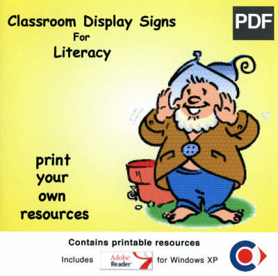 Classroom Display Signs Disc for Literacy (CD-ROM)