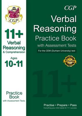 11+ Verbal Reasoning Practice Book with Assessment Tests (Ages 10-11) for the Cem Test (Paperback)
