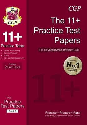 11+ Practice Test Papers for the Cem Test (Paperback)