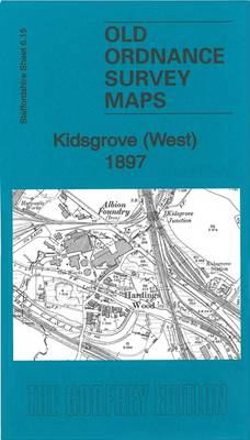 Kidsgrove (West) 1897: Staffordshire Sheet 06.15 - Old Ordnance Survey Maps of Staffordshire (Sheet map, folded)