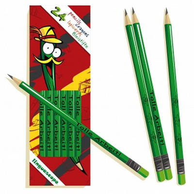 "Pack of 24 German Pencils (""Tolle Arbeit!"") (Mixed media product)"
