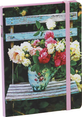 Homespun Peonies and Roses Mini Hardback Notebook (Record book)