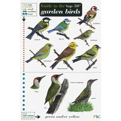 Guide to the Top 50 Garden Birds - Field Studies Council Occasional Publications S. 52 (Fold-out book or chart)