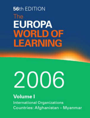 Europa World of Learning 2006 (Hardback)