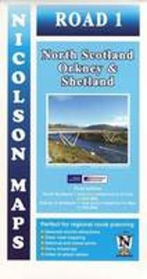 Road 1 North Scotland: Orkney & Shetland - Nicolson Road Maps 1 (Sheet map, folded)