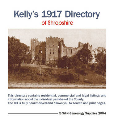 Kelly's 1917 Directory of Shropshire (CD-ROM)