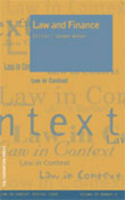 Law and Finance (Paperback)