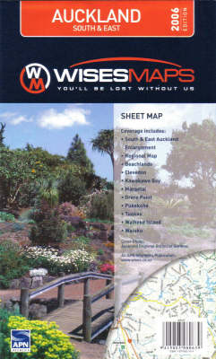 Auckland South and East Map: With Street Index (Sheet map, folded)
