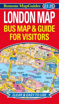 London Map: Bus Map and Guide for Visitors (Sheet map, folded)