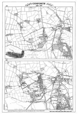 Gosforth Newcastle 1860 and 1899 Maps - Heritage Cartography Victorian Town Map Series (Sheet map, folded)