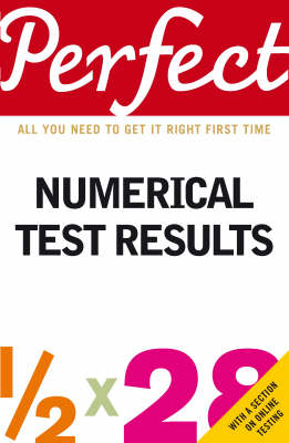 Perfect Numerical Test Results (Paperback)