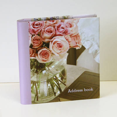 Romantic Country Flowers Large Address Book (Address book)