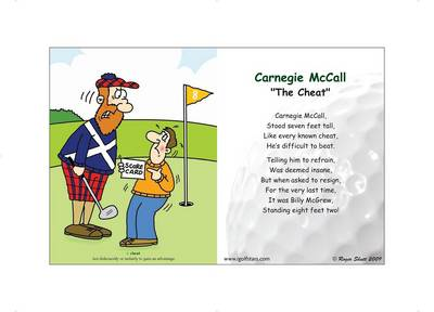 "Carnegie McCall ""The Cheat"" - Front 9 Edition (Poster)"