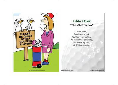 "Hilda Hawk ""The Chatterbox"" - Front 9 Edition (Poster)"