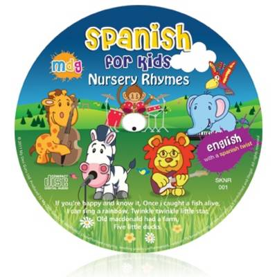Spanish for Kids Nursery Rhymes: English with a Spanish Twist - Kids Learn Languages (CD-Audio)