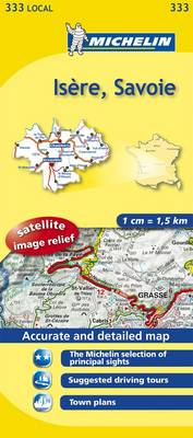 Isere, Savoie - Michelin Local Maps No. 333 (Sheet map, folded)