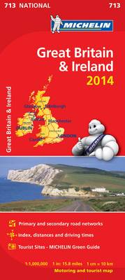 Great Britain and Ireland 2014 National Map 713 - Michelin National Maps 713 (Sheet map, folded)