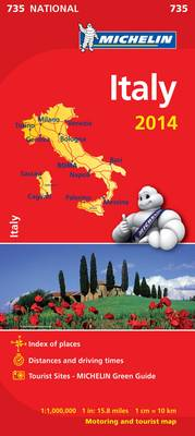 Italy 2014 National Map 735 - Michelin National Maps 735 (Sheet map, folded)