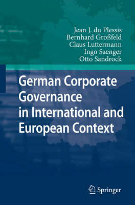German Corporate Governance in International and European Context (Hardback)