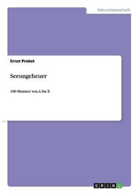 Seeungeheuer (Paperback)
