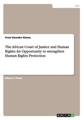 The African Court of Justice and Human Rights: An Opportunity to Strengthen Human Rights Protection (Paperback)