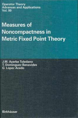 Measures of Noncompactness in Metric Fixed Point Theory - Operator Theory: Advances and Applications v. 99 (Hardback)