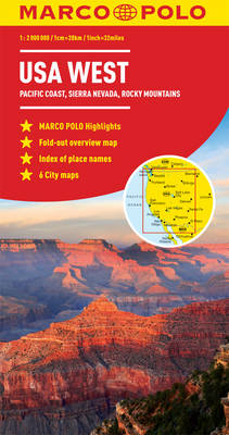 USA West Marco Polo Map (Sheet map, folded)