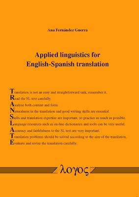 Applied Linguistics for English-Spanish Translation (Paperback)